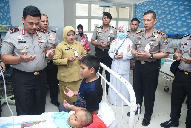 Kapolresta Banjarmasin Disambut Senyuman Saat Mengunjungi Siti Fatimah