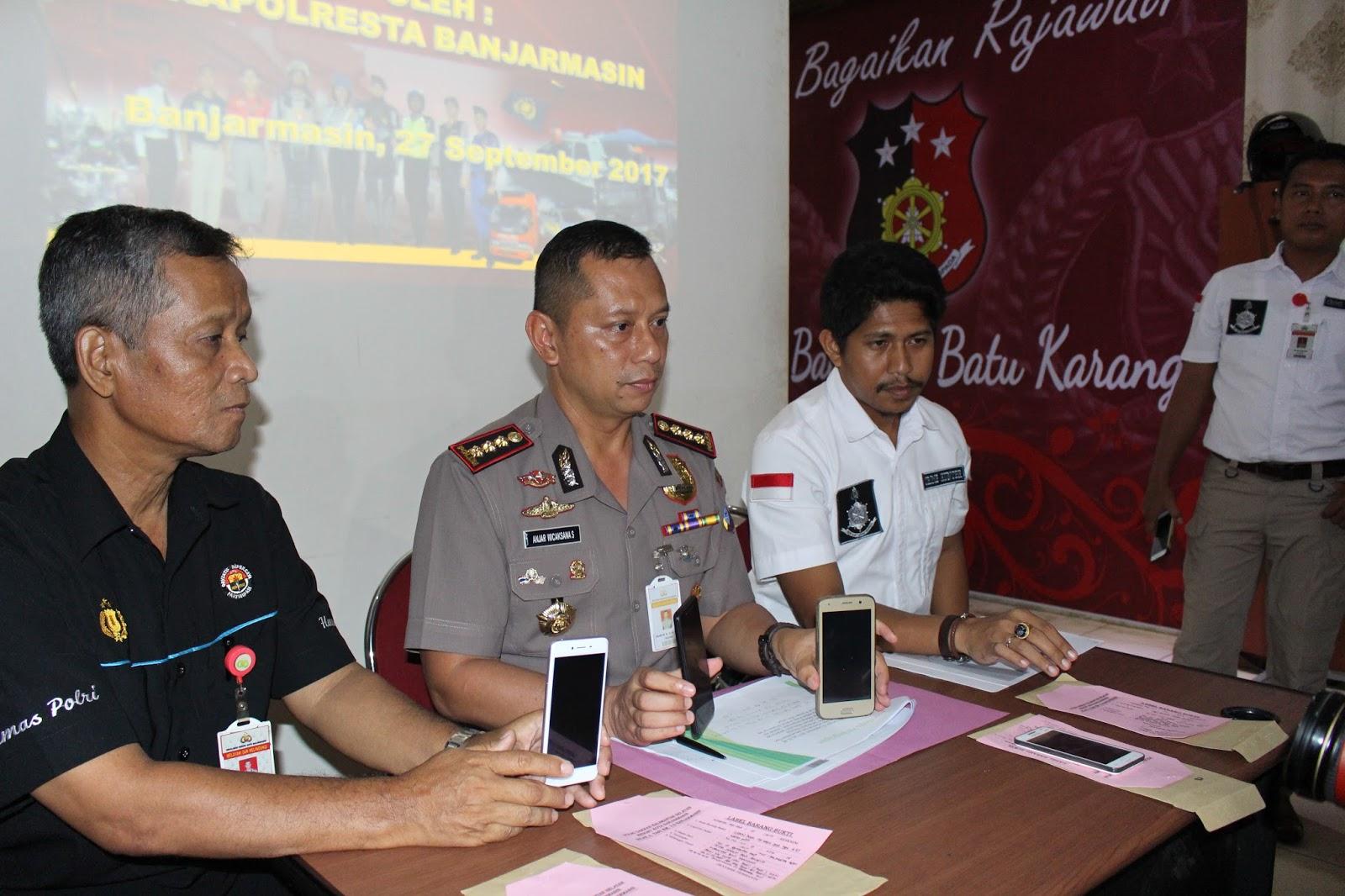 Prees Release Ungkap Kasus Tindak Pidana Perdagangan Manusia dan Perlindungan Anak di Kota Banjarmasin