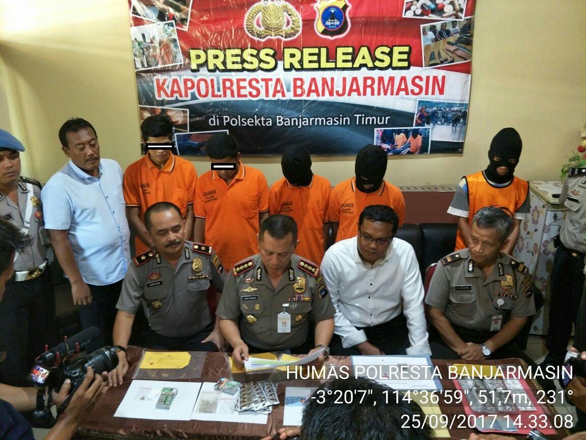 Berhasil Dalam Pengungkapan Kasus, Kapolresta Banjarmasin Gelar Press Release