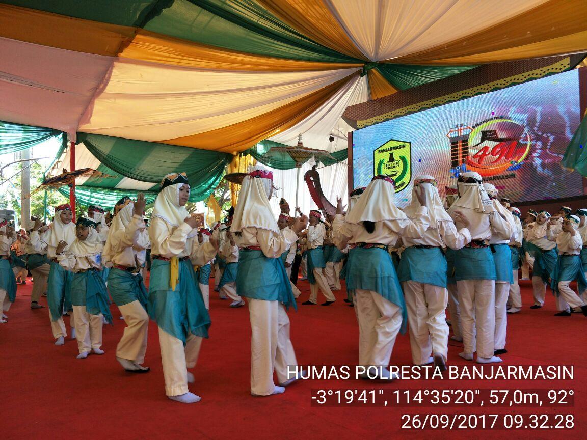 Kapolresta Banjarmasin Hadiri Kegiatan Puncak Hari Jadi Kota Banjarmasin ke 491