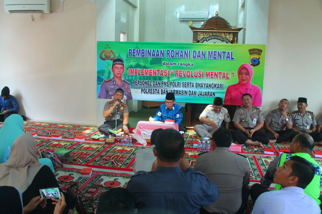 Polresta Banjarmasin Gelar Binrohtal Dan Syukuran di Mesjid Ikhlasul Mu'min