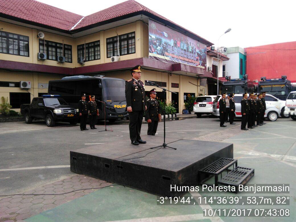 Waka Polresta Banjarmasin Pimpin Upacara Peringatan Hari Pahlawan Ke 72