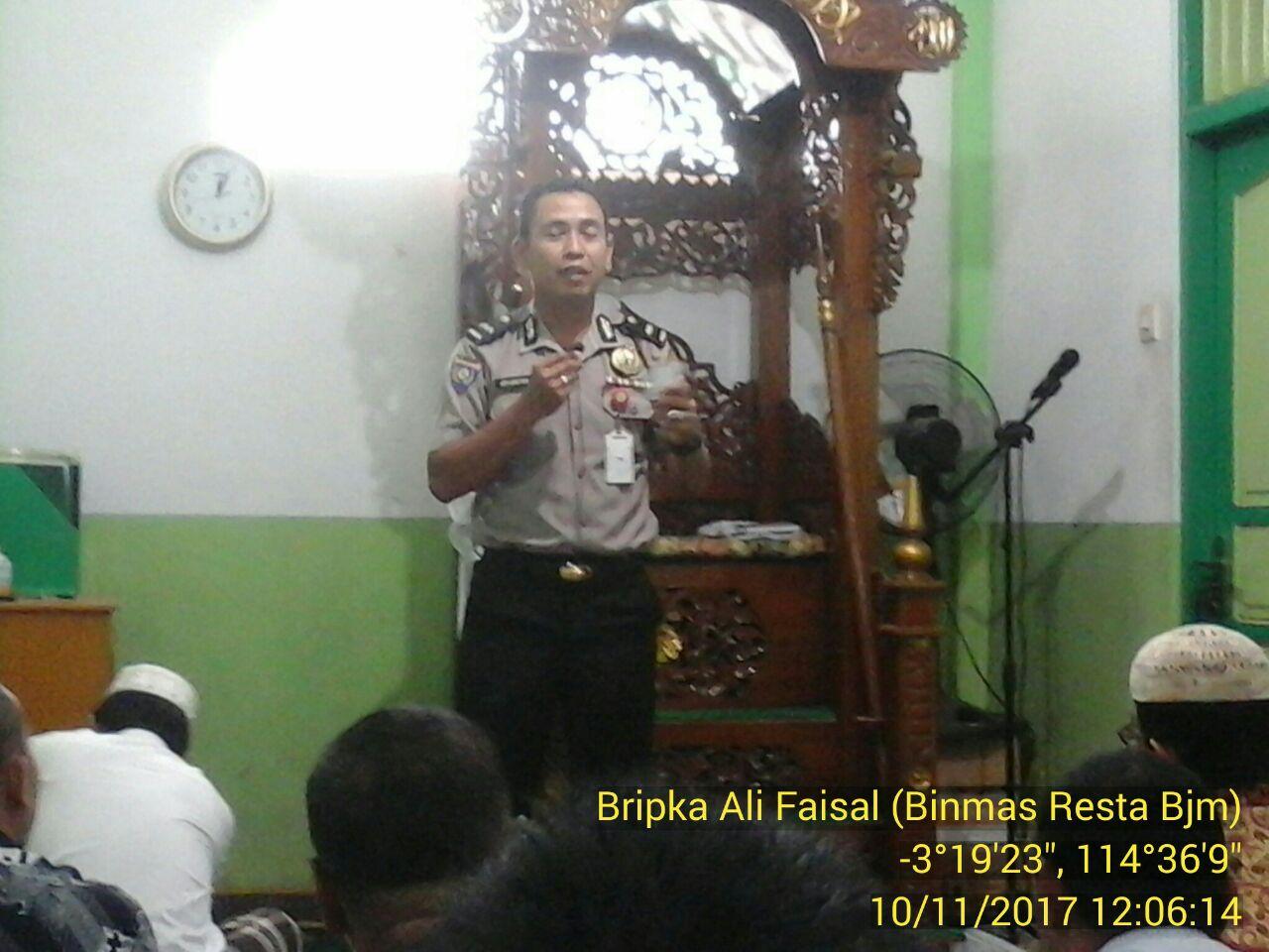 Polresta Banjarmasin : Ada Polisi di Mesjid AL- Falah Duta Mall Banjarmasin, Begini Ceritanya?