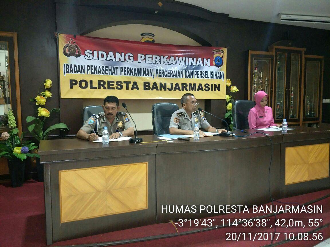 Polresta Banjarmasin : Kabag Sumda Pimpin Sidang BP4 Pada Personelnya