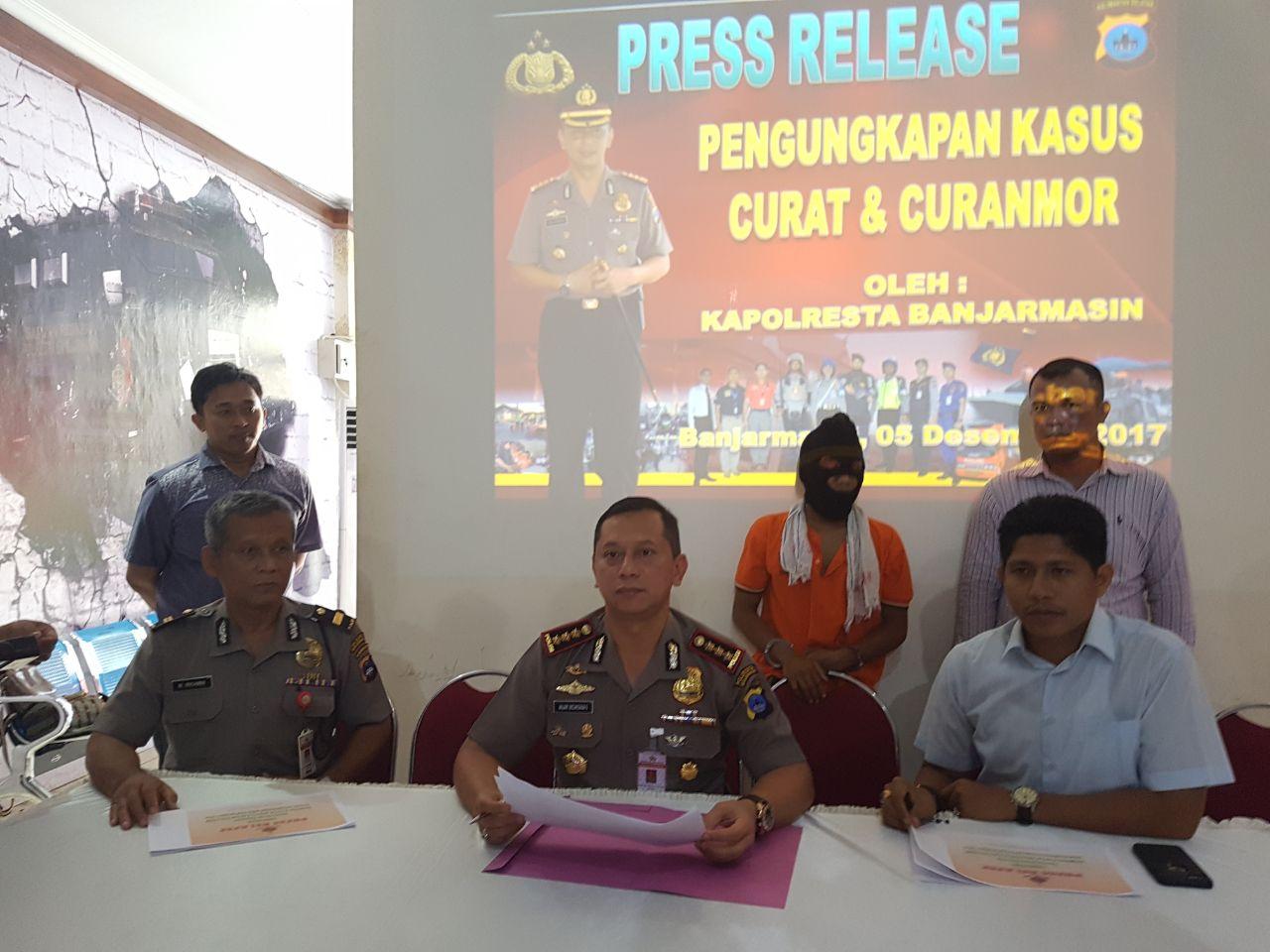 Press Release : Bermodal Nekad, Pemain Tunggal Kasus Pencurian Gasak 10 Unit Kendaraan Bermotor