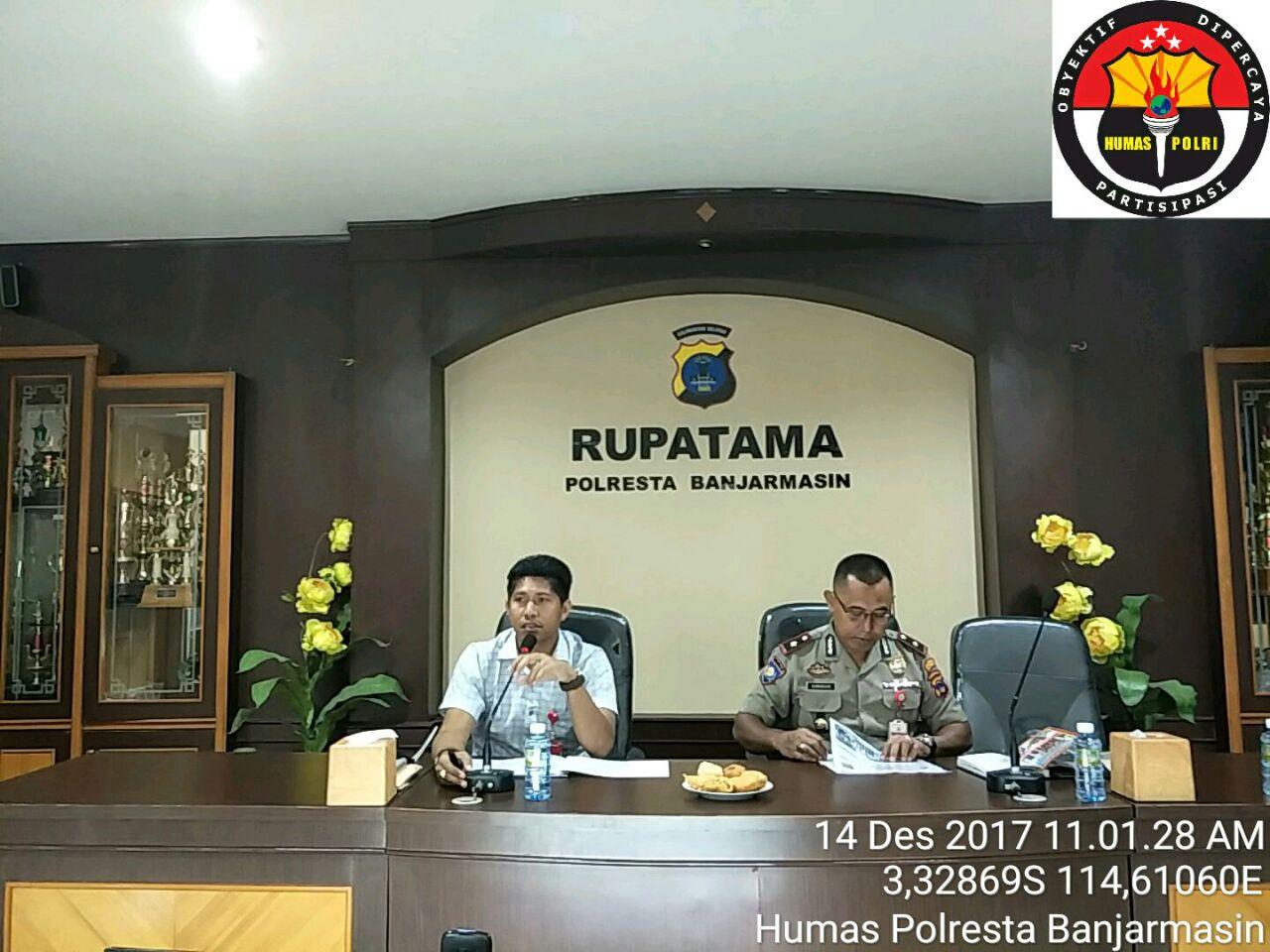Polresta Banjarmasin Gelar Sosialisasi Saber Pungli Kepada Seluruh Personel Bhabinkamtibmas