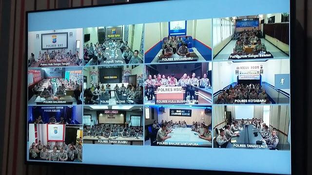 Polresta Banjarmasin : Personel Polsek KPL Banjarmasin Ikuti VICON