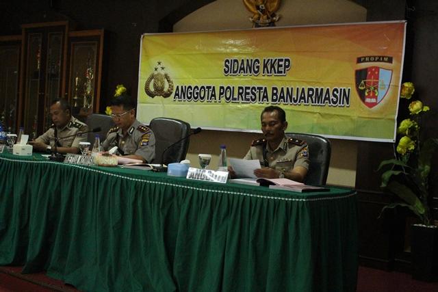 Sidang Komisi Kode Etik Polri : Penegakkan Disiplin Dilingkungan Polresta Banjarmasin