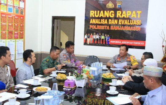 Kabag Ops Polresta Banjarmasin Pimpin Rapat Koordinasi Persiapan Pengamanan Tabligh Akbar UAS