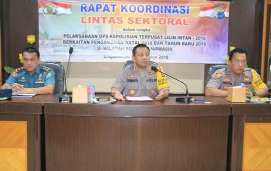 Kapolresta Banjarmasin Pimpin Pelaksanaan Rapat Koordinasi Lintas Sektoral