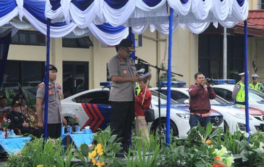 Kapolda Kalsel Pimpin Apel Gelar Pasukan Operasi Lilin Intan 2018