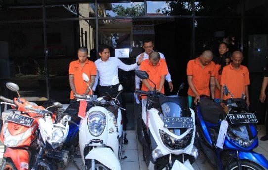 Polresta Banjarmasin Ungkap 3 Kasus Curanmor, Dua Pelaku diantaranya Pasutri