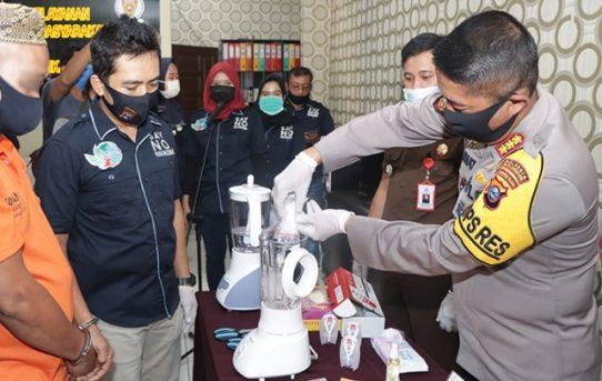 Musnahkan Barang Bukti Narkoba, Kapolresta : Apresiasi Kinerja Personel