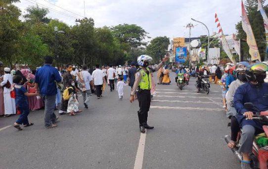 Jaga Kondusifitas, Polisi Di Banjarmasin Gelar Pengamanan Sholat Idul Adha 1441 H