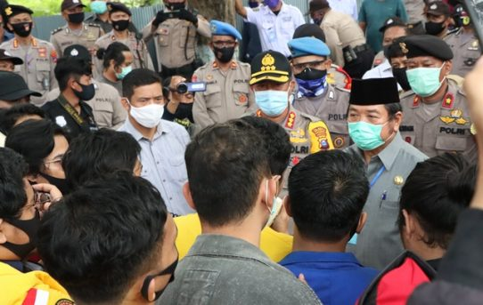 Kawal Aksi Mahasiswa Kalsel, Kapolresta Banjarmasin: Alhamdulillah Berjalan Aman