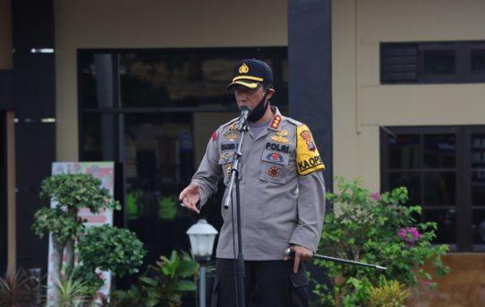 Apel Jam Pimpinan, Kapolresta Tekankan Kesiapan Pengamanan Pildaka Serentak 2020