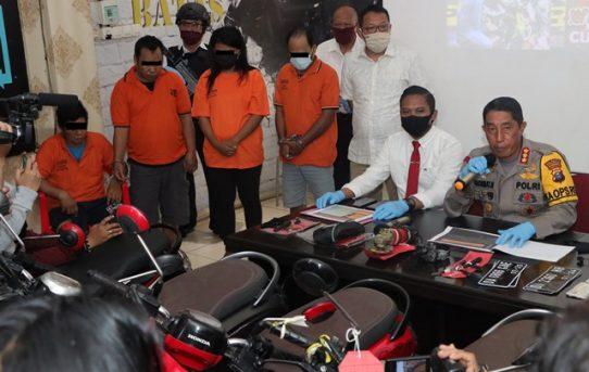 Reskrim Polresta Banjarmasin dan Resmob Polda Kalsel Berhasil Ungkap Sindikat Curanmor