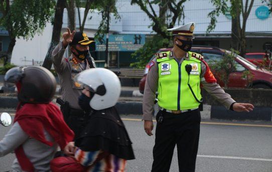"Polresta Banjarmasin Sosialisasikan ""Lajur Kanalisasi"" Roda Dua"