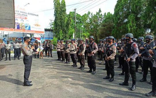 Diamankan Ratusan Personil Polisi, Rapat Pleno KPU Kalsel Berjalan Aman Lancar