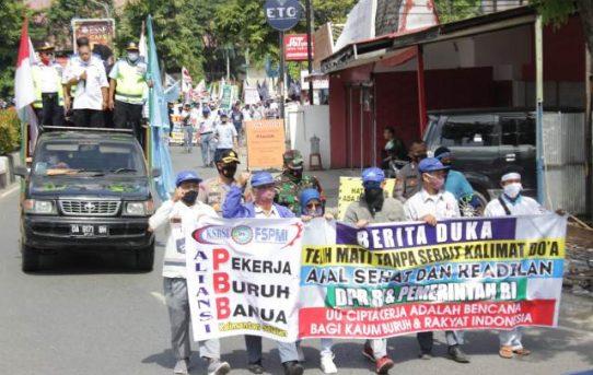 Kapolda Kalsel : Aksi Buruh di Banjarmasin Berlangsung Aman