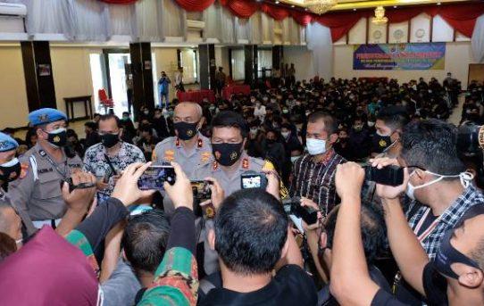 Apresiasi Orangtua Demonstran untuk Polda Kalsel Atas Tindakan Pengamanan Pencegahan Mengikuti Aksi Unjuk Rasa Penolakan Omnibus Law