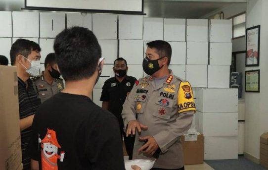 Kapolresta Banjarmasin Pantau Pengamanan Gudang KPU