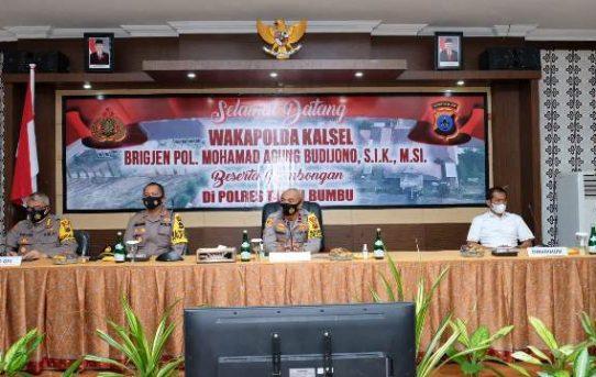 Wakapolda Kalsel Kunjungi Polres Tanbu, Pantau Kesiapan Pengamanan Pilkada