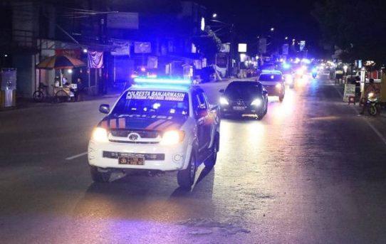 Jamin Keamanan Liburan Panjang, Polresta Banjarmasin Gelar Patroli Cipta Kondisi