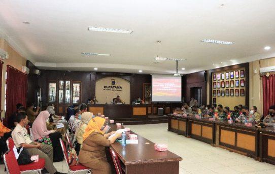 Sikronisasi Data Penanganan Covid-19, Kapolresta Banjarmasin : Zona Hijau Harus Tetap Waspada