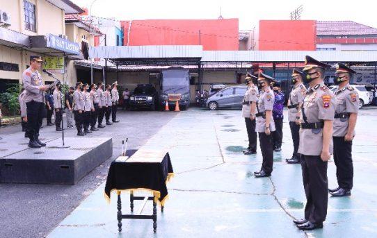 Sertijab 3 Kapolsek, Kapolresta Banjarmasin : Minta Fokus Penanganan Covid-19 Dan Jaga Kondusifitas Kamtibmas