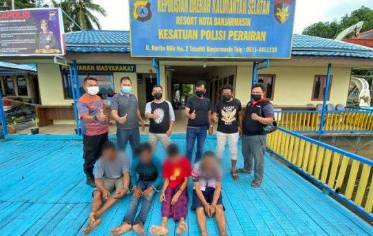 Satuan Polair Polresta Amankan 3 Pria Diduga Menyimpan Sabu, Satu Orang Loncat Ke Air
