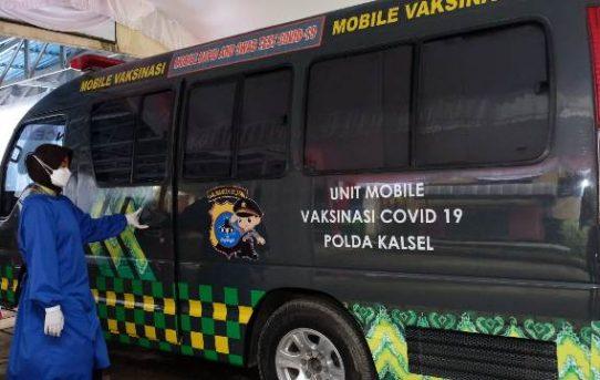Polda Kalsel Resmi Luncurkan Mobil Vaksinasi Covid-19 Drive THRU