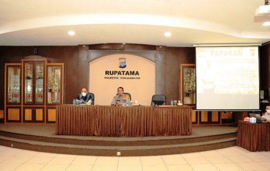 Agenda Kesiapan Pengamanan PSU Dan Perayaan Paskah, Polresta Banjarmasin Gelar Rakor