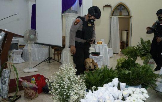 Polresta Banjarmasin Gelar Sterilisasi Disejumlah Gereja Jelang Perayaan Paskah