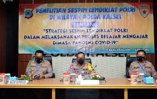 Tim Sespim Lemdiklat Polri Pilih Polda Kalsel sebagai Tujuan Penelitian