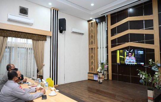 Peluncuran Polri TV-Radio Presisi Oleh Kapolri Diikuti Kapolda Kalsel Secara Daring