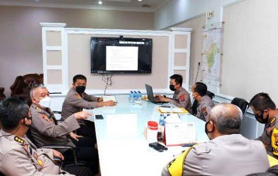 Tindaklanjut Vicon Rencana Penyelenggaraan Penerimaan Bintara Polri, Polda Kalsel Gelar Rapat