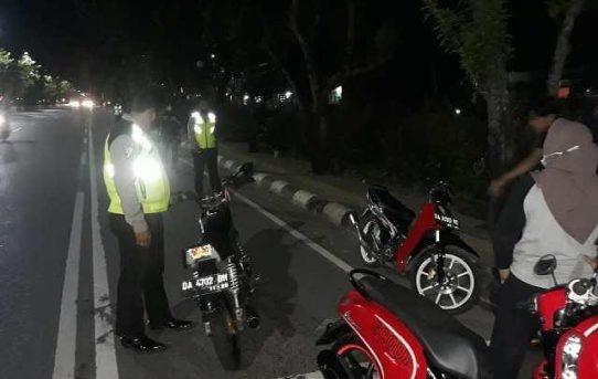 Tindak Lanjuti Keluhan Masyarakat, 10 Unit Ranmor Balap Liar Diamankan Polsek Banjarmasin Timur
