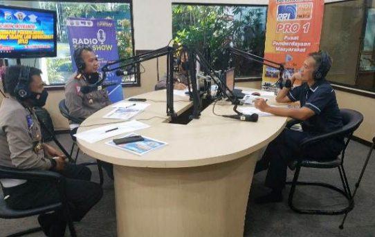 Sosialisasi Tilang Elektronik, Ditlantas Polda Kalsel Talk Show Bersama RRI Banjarmasin
