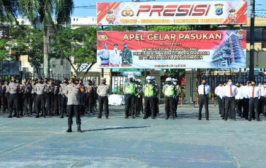 Hadapi PSU Pilwali, Polresta Banjarmasin Berikan Pengamanan Ekstra
