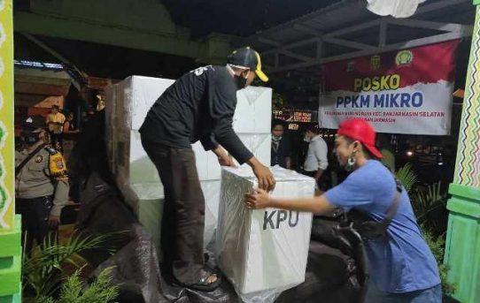 Polresta Banjarmasin Jaga Ketat Pergeseran Logistik PSU Pilwali