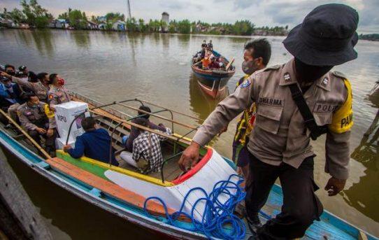 Perjuangan Pengawalan Pendistribusian Logistik PSU Pilwali Banjarmasin