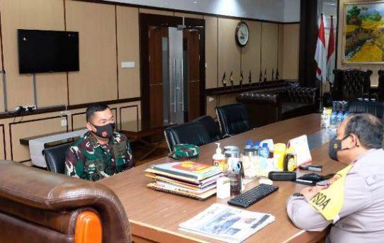 Kapolda Kalsel Sambut Kunjungan Danlanud Syamsuddin Noor