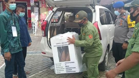 Polresta Banjarmasin Kawal Ketat Hingga Akhir Pergeseran Kotak Suara PSU Pilwali