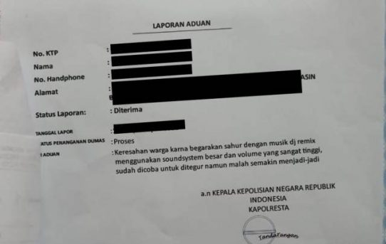 Warga Bagarakan Sahur Pakai Musik Remix, Bhabinkamtibmas Dan Babinsa Belitung Selatan Tegur Ketua RT