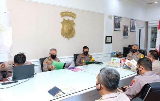 Wakapolda Kalsel Pimpin Penyampaian Hasil Rapat oleh SSDM Polri dan Evaluasi Pelaksanaan Rekrutmen Bintara Polri TA.2021