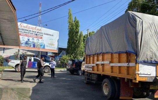 Polresta Banjarmasin Amankan Pergeseran Logistik PSU Pilgub Kalsel