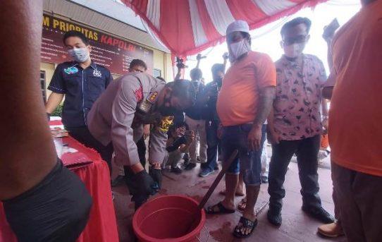 Ratusan Gram Barang Bukti Narkoba Dimusnahkan, Polresta Banjarmasin Selamatkan Ribuan Jiwa