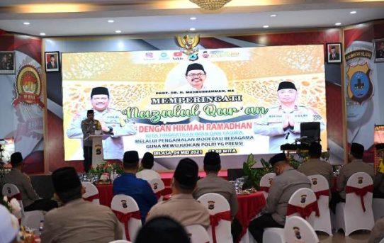 Berlangsung Sederhana dan Terapkan Protokol Kesehatan, Polda Kalsel Gelar Peringatan Nuzulul Qur'an