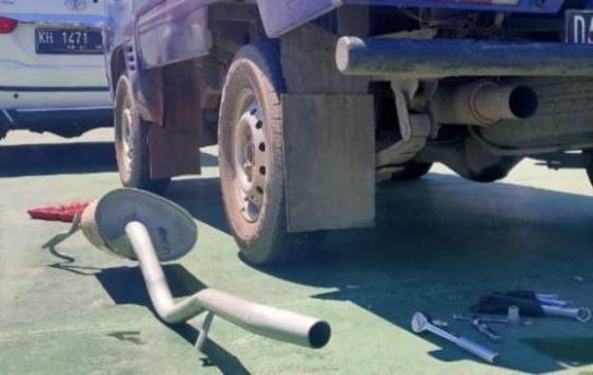 Sat Lantas Polresta Banjarmasin Tindak Mobil Berknalpot Bising
